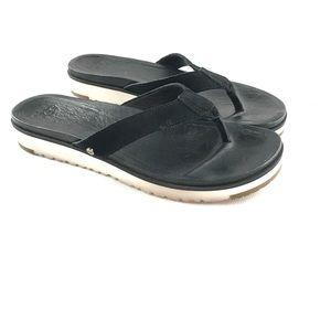 UGG Australia Womens 7.5 LORRIE Suede Flip Flops